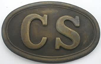 Solid Brass Civil War Confederate CS Army Puppy Paw Belt Buckle