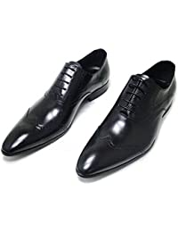 Men Genuine Leather Oxford Shoes Lace up Slip On Boots Brogue Shoes Formal Dress Shoes