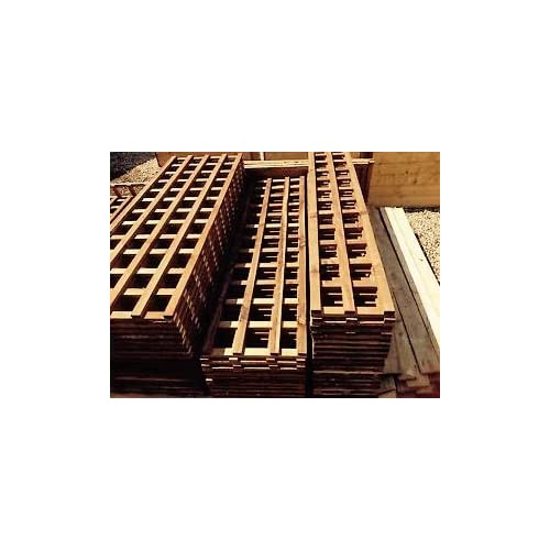 Heavy Duty Made Garden Trellis Treated In Dark Brown Preserver PAY DELIVERY  ONCE (6ftx2ft,