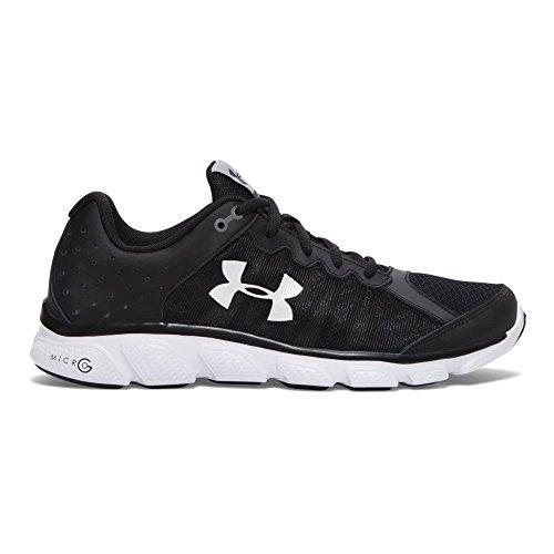 Under Armour Men's Micro G Assert 6 Running Shoes, Black/White, 11 D(M) US - Black Under Armour Shoes