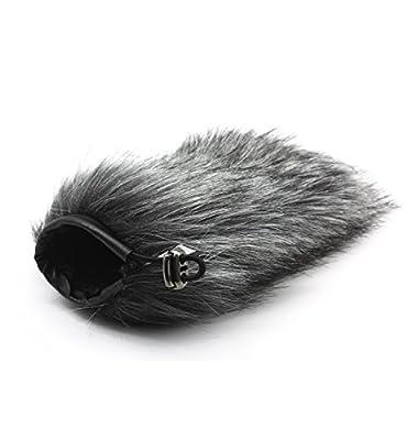 HUANOR HN-17 Outdoor Furry Mic Windscreen Wind Cover Microphone Muff for RODE VIDEOMIC GO Recording Shotgun Recorder