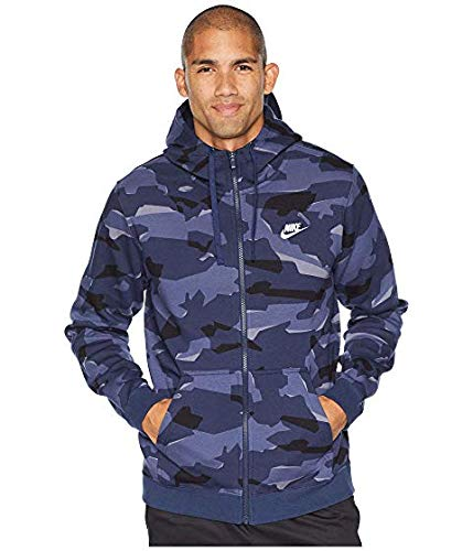 [NIKE(ナイキ)] メンズウェアジャケット等 NSW Club Camo Hoodie Full Zip BB Midnight Navy/Midnight Navy/White US 2XL (2XL) [並行輸入品]   B07MZ7ZHJC
