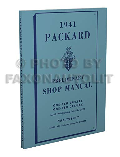 1941 Packard 110 & 120 Repair Shop Manual Reprint for sale  Delivered anywhere in USA