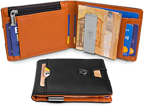 dee2ad24f36 Jual Money Clip Wallet with Coin compartment LONDON  RFID Block ...