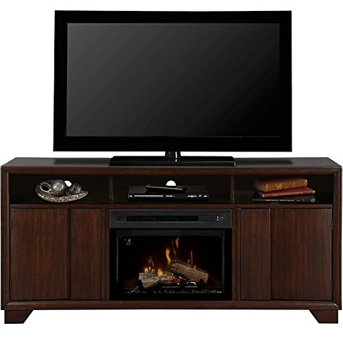 Dimplex Arkell Electric Fireplace & Entertainment Center with Realogs Firebox - Walnut