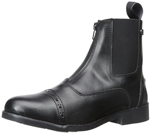 Barn Zip Boot - Equistar - Ladies' Zip Paddock Boot (All Weather) 9 Black