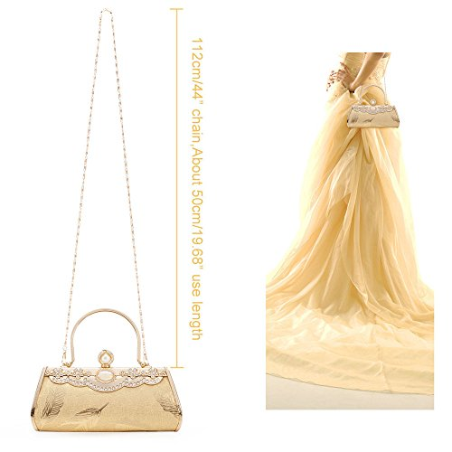 Frame Bridal Bag Prom Case Hard Gold Tote Party Wedding Cluthc Handbag 4 Purse Metal Womans Bags Bag Evening fXwOqp