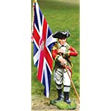 American Revolutionary War British 5th Regiment Foot Grenadier Flag Bearer The Collectors Showcase Toy Soldiers Painted Metal Figure 54mm CS00833 Britains Thomas Gunn King and Country Type