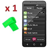 1 x Jitterbug Smart Easy-to-Use Screen Protector Guard CLEAR PRE-CUT No Cutting Require Perfect Fit + EXTREME BRAND (1 x Clear Screen Protector)