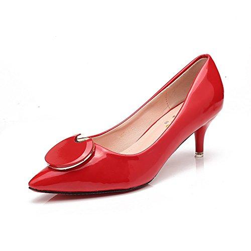 1TO9Mmsg00008 - Sandali con Zeppa donna, rosso (Red), 35