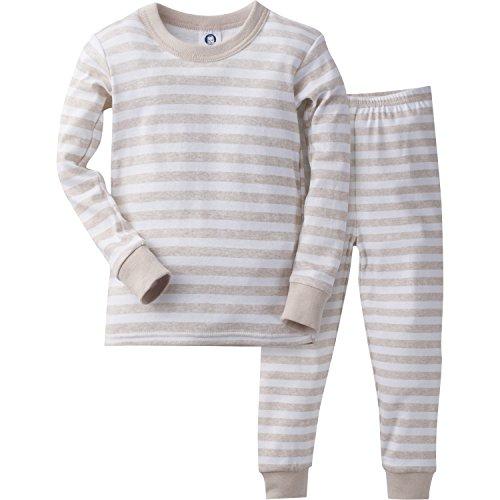 Gerber Little Boys' 2 Piece Cotton Pajama, Oatmeal Stripe, 5T by Gerber