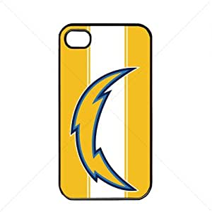 NFL American football San Diego Chargers Fans Apple iPhone 4 / 4s TPU Soft Black or White case (Black)