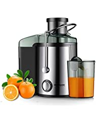 Juicer Juice Extractor, Homeleader Stainless Steel Centrifugal Juicer with 3 Wide Mouth,