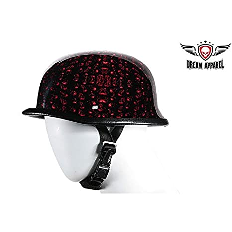 Amazon.com: Borgoña calavera cementerio casco de motocicleta ...