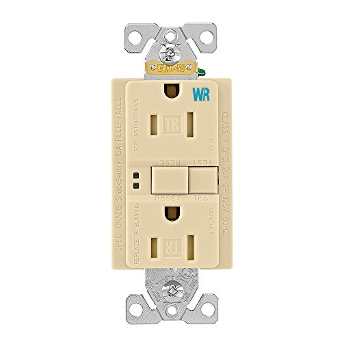 (EATON TWRSGF15V Arrow Hart Tamper And Weather Resistant Duplex Gfci Receptacle, 125 Vac, 15 A, 2 Pole, 3 Wire,)