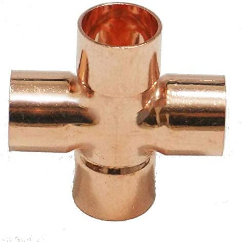 Plumbing Heating Pipework Part 5 X 22mm Equal Tee Endfeed Copper Fittings