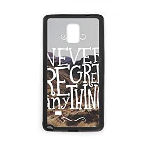 Samsung Galaxy Note 4 Cell Phone Case Black_Never Regret Anything Igkje