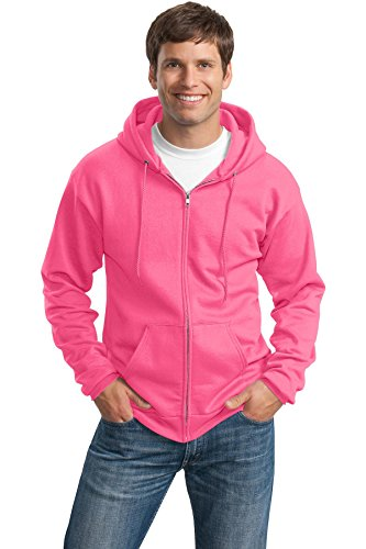 PORT & COMPANY Men's Classic Full Zip Hooded Sweatshirt L...