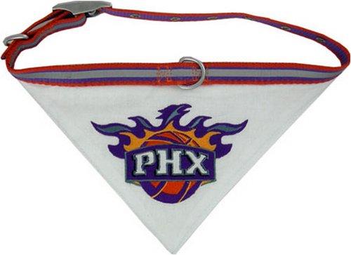 Pets First NBA BANDANA - PHOENIX SUNS DOG BANDANA with Reflective & Adjustable DOG COLLAR, Medium