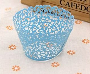 Anniversaries Any Event Birthdays White Pack of 50 Lace Filigree Laser Cut Cupcake Wrappers for Weddings