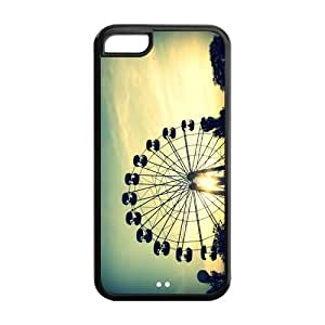 Aesthetic Colorful Ferris Wheel TPU protection Case Cover Skin For Iphone 5c Pattern Case