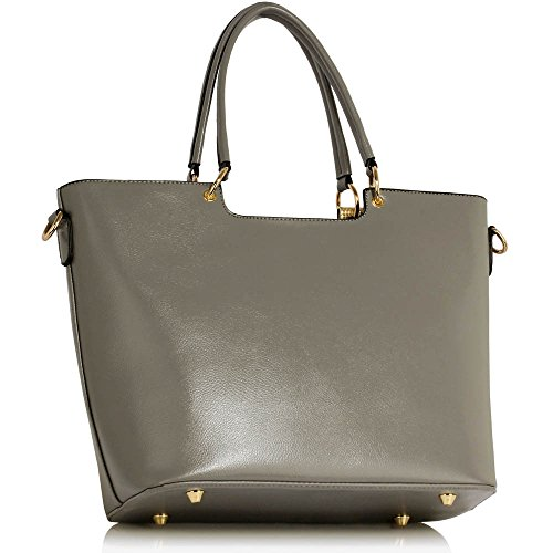 Womens Bags College Large Large New Handbags Leather Office Grey Design Tote Ladies Shoulder 2 Hr5ZqHw