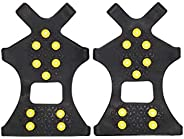 Liyes Sports Outdoor Climbing Soles, Non-Slip Ice-Snow Shoes Covers, Thermoplastic Elastomer Climbing Grips Cleats Over Shoe