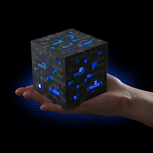 ThinkGeek Minecraft Light-Up Diamond Ore - Officially-Licensed Minecraft