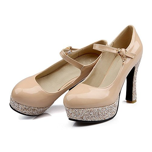 Soft Beige Ladies Pumps Material BalaMasa Heels Shoes Shiny t4SwnO0q
