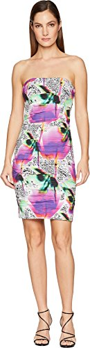- Nicole Miller Women's Strapless Dress Multicolored 12