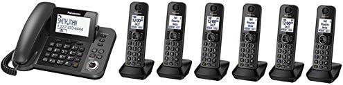 Cordless Phone w// DECT 6.0 Refurbished Panasonic KX-TGF382M 3 Handset Corded