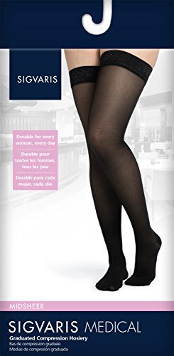 SIGVARIS Women's MIDSHEER 750 Closed Toe Thigh High w/ Grip Top Hose 20-30mmHg by SIGVARIS (Image #1)