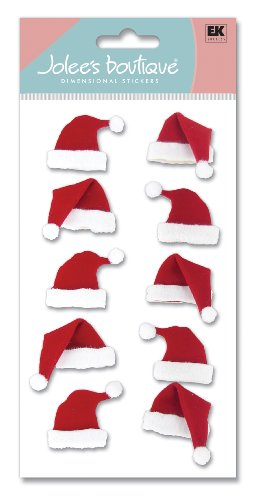 Jolee's Boutique Dimensional Stickers, Santa Hats