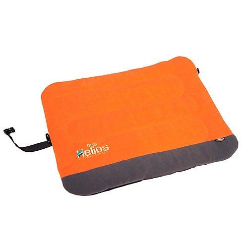 DOGHELIOS 'Combat-Terrain' Cordura-Nyco Reversible Nylon and Polar Fleece Travel Camping Folding Pet Dog Bed Mat, X-Large, Orange, Grey