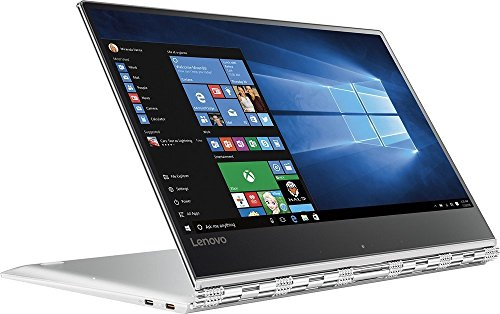 "Price comparison product image 2017 Lenovo Yoga 910 2-in-1 Laptop: 13.9"" Touchscreen IPS FHD (1920x1080), Intel Core i7-7500U, 256GB SSD, 8GB DDR4, Backlit Keys, Windows 10 - Silver (Certified Refurbished)"