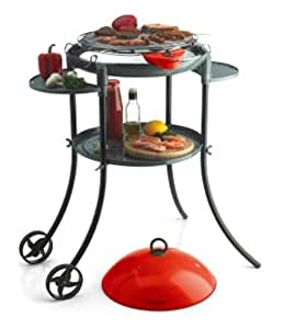 Bestron DLD5003 BBQ grill on stand with wheels, Negro - Parrilla