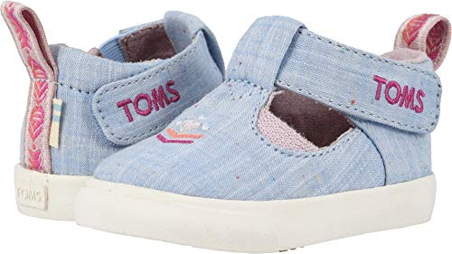 TOMS Kids Baby Girl's Joon (Infant/Toddler) Light Bliss Blue Speckled Chambray 5 M US Toddler ()