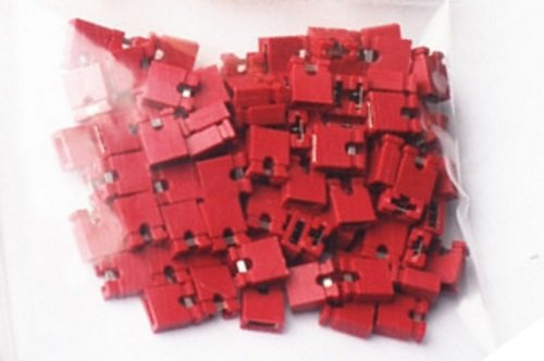 2.54mm Standard Computer Jumper Caps 100pack - red by CorpCo