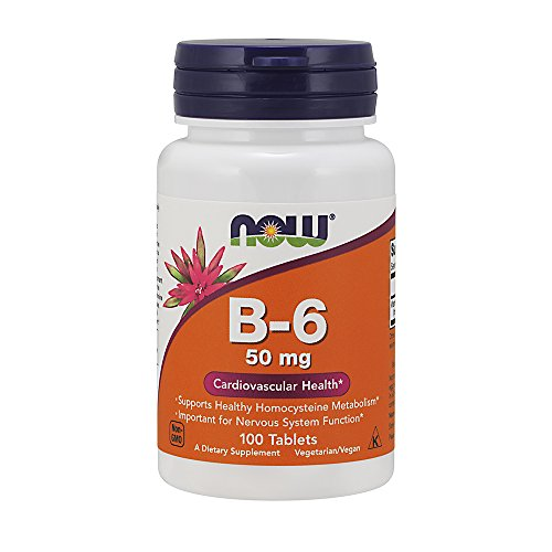 NOW Vitamin B 6 100 Tablets