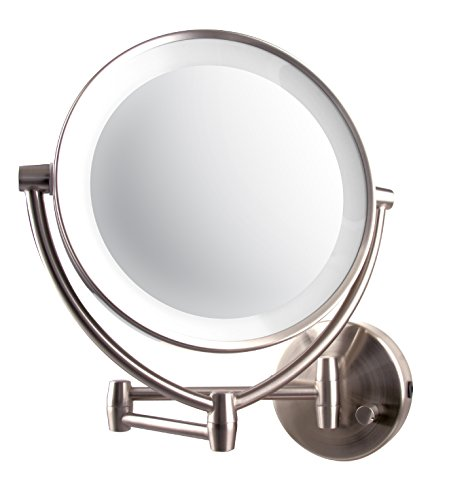 Led Light Wall Mounted Makeup Mirror: Led Lighted Wall Mount Vanity Mirror 9.5 Inch 1x/10