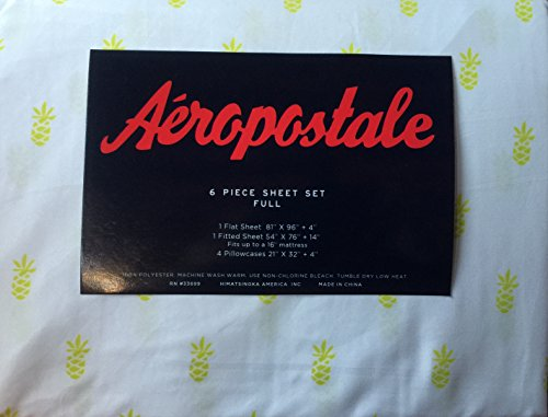 aeropostale-6-piece-polyester-full-sheet-set-pineapple-lime