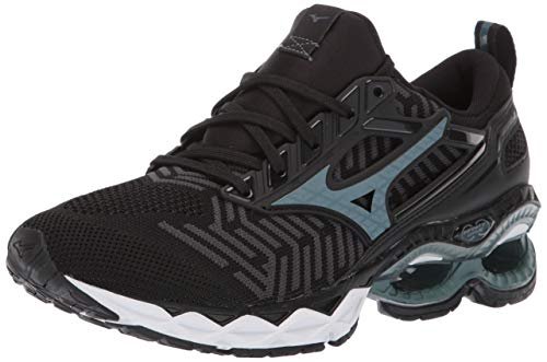 - Mizuno Women's Wave Creation 20 Knit Running Shoe, Black-Dark Shadow 7 B US