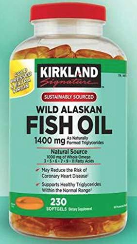 Kirkland Signature Wild Alaskan Fish Oil 1400mg, 230 Count