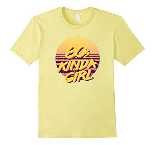80's-90's Themed Costumes (Mens 80s Kinda Girl Born Raised In The Eighties Shirt 2XL Lemon)