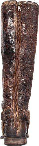 Frye Womens Phillip Borchiato Bardato Alto Boot Cioccolato Vintage In Pelle
