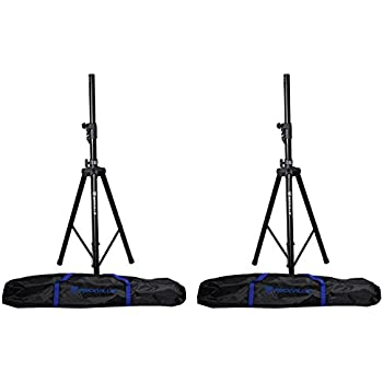 Amazon Com Rockville Dj Pa Tripod Speaker Stand Bag