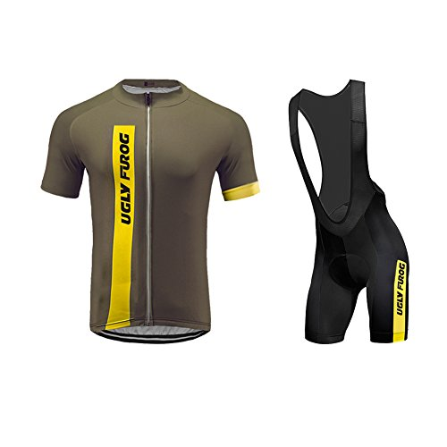 Uglyfrog 2017 New Summer Cyling Set Short Jersey +Bib Shorts Triathlon Wear Brief Professional Classic Retro MTB Bicycle - Triathlon Singapore 2017