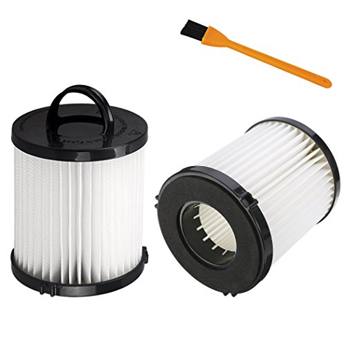 Hongfa 2pcs Eureka DCF-21 (DCF21) Washable & Reusable Allergen Filters Replacements for eureka DCF-21 (67821 68931 68931A AS1000 AS1040 3270 3280 4230 4240 Series) Kit And 1pcs Free Cleaning Brush - Eureka Step