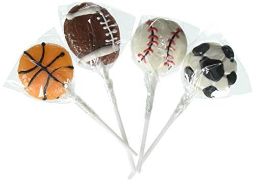 Sport Ball Lollipops Dozen (Chocolate Sports Balls)