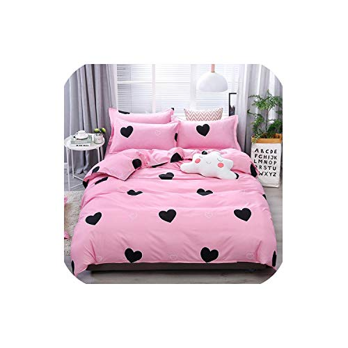 Mandalay Queen (LOVE-JING Home Textile Animal Happy Bird Winter 4Pcs Child Adult Bedding Set Luxury Comfortable Bedclothes Duvet Cover Bed Linen,09,Queen Cover 200By230,(Flat Bed Sheet))